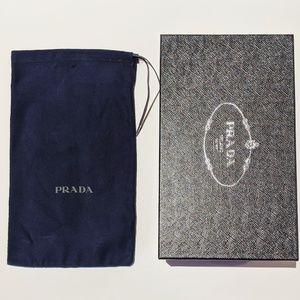 PRADA Textured Shoe Box, Tissue Paper & Dust Bag